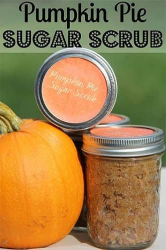 A photo of ingredients for a pumpkin pie sugar scrub. Learn pumpkin masks and scrubs at Paroba.